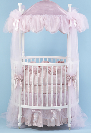 Country French Round Crib & Martinek BéBé - Elegance for Baby: #206 Round Crib