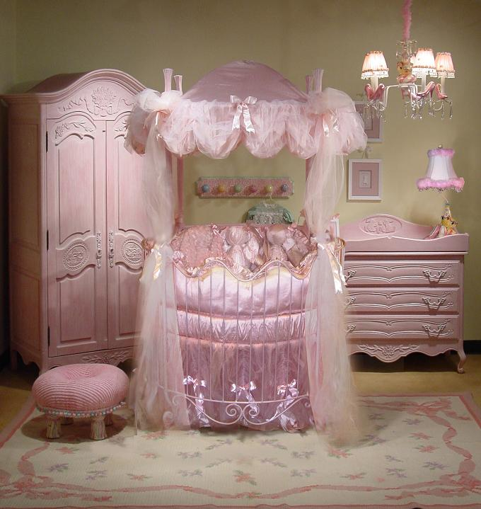 A Little Princess Nursery Design: Elegant Baby Furnishings By Pat Martinek