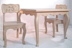 Country French Child's Table with Chairs